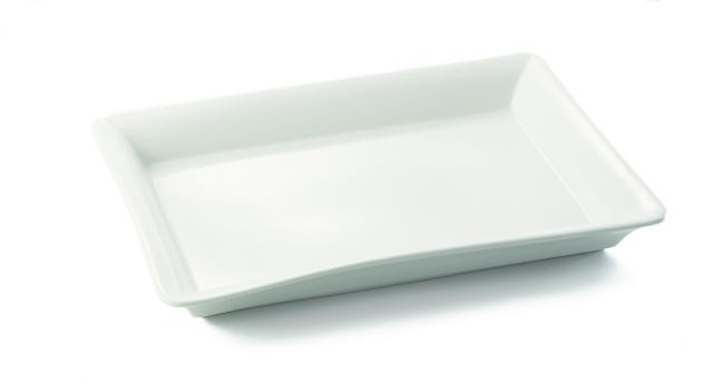"TableCraft P1913 Glacier Collection Rectangular Porcelain Platter, 19"" x 13"""