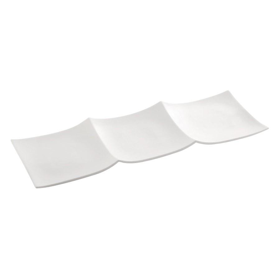 "TableCraft P217 Glacier Collection Rectangular Porcelain Platter, 20-1/2"" x 6-3/4"""
