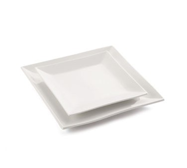 "TableCraft p1212 Glacier Collection Square Porcelain Platter, 12"" x 12"""
