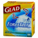 Glad Forceflex Drum Kitchen Bag 13 Gl, .95 Mil, White