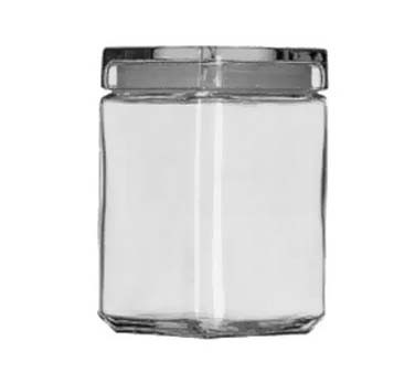 Glass 1.5 Quart Stackable Square Jar
