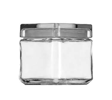 Glass 1 Quart Stackable Square Jar