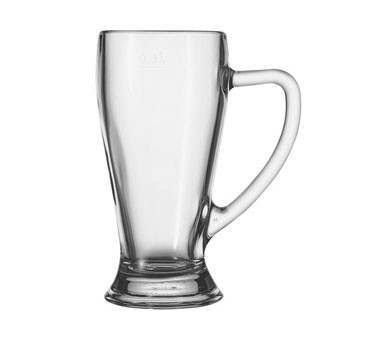 Glass 13 oz. Bavarian Handled Beer Mug