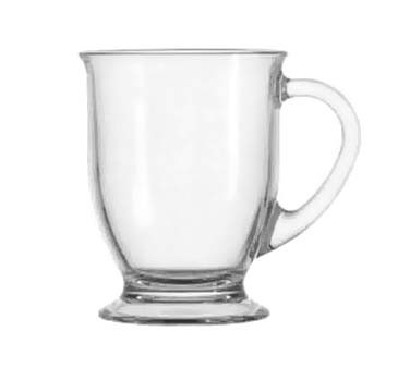 Glass 16 oz. Cafe Mug