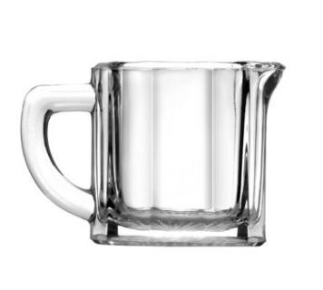 Anchor Hocking 7008 2.5 oz. Glass Creamer with Handle