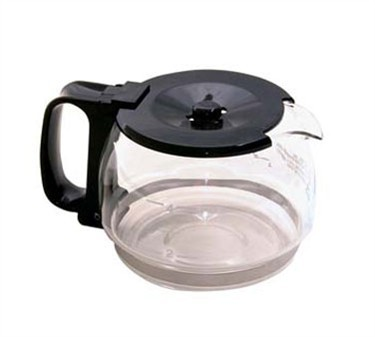 Glass 4-Cup Coffee Decanter With Plastic Lid/Handle