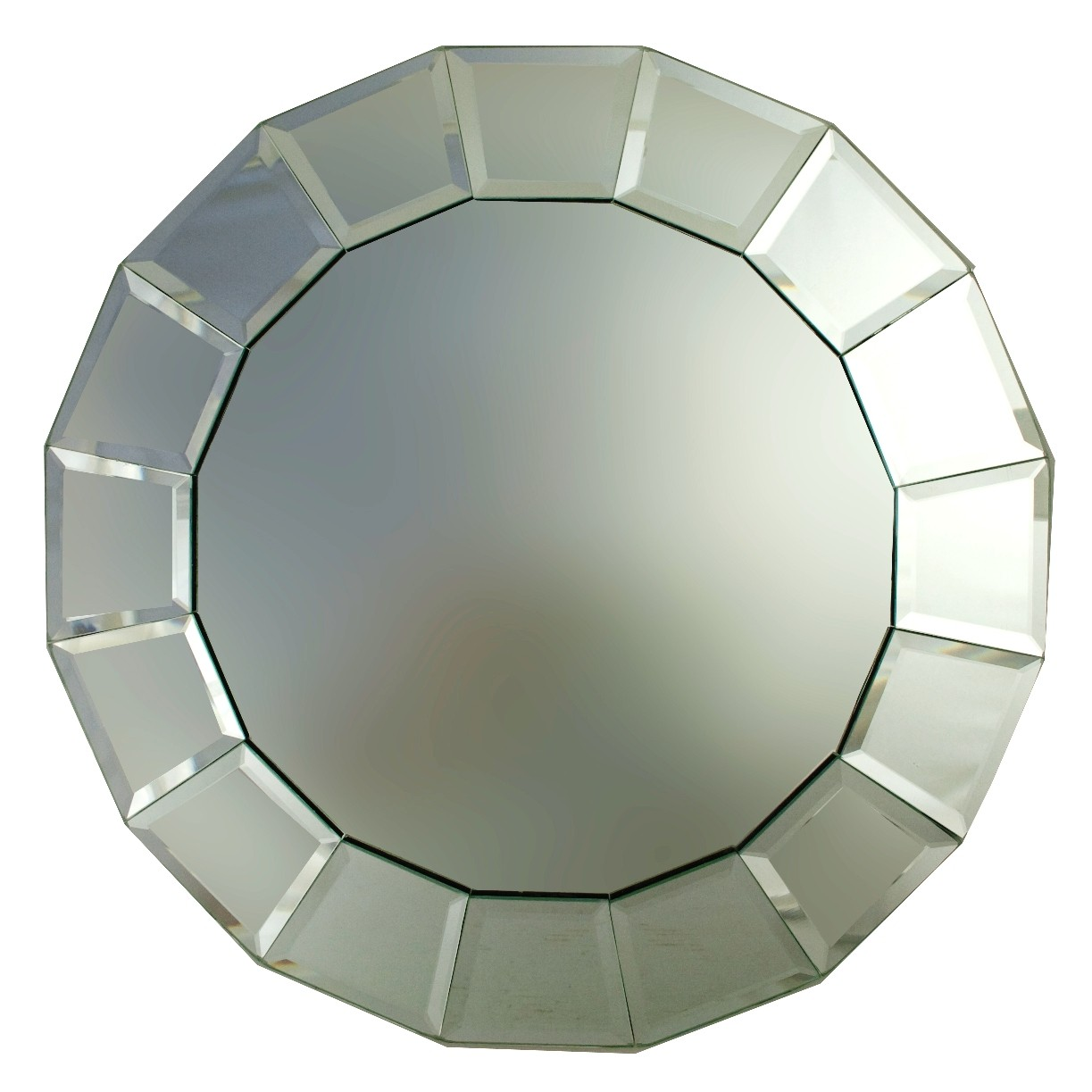 "Jay Companies 1330094 Beveled Block Round Mirror 13"" Charger Plate"
