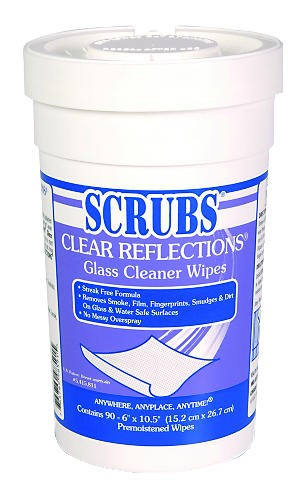 Glass Cleaner Wipes, 7 x 10 1/2, White