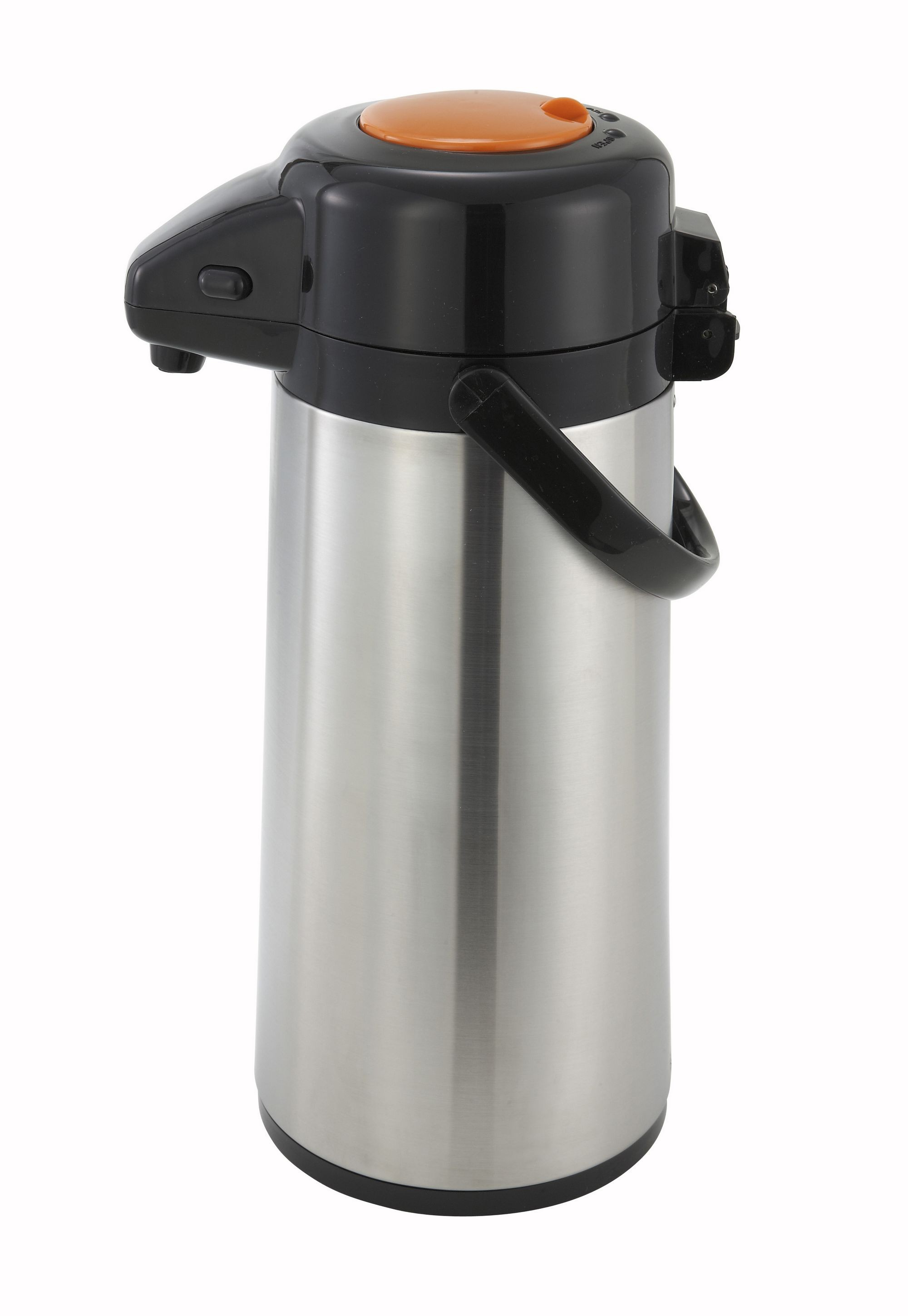Glass-Lined Steel Body 2.2-L Push-Button Decaf Air Pot (10-24 Hr Heat)