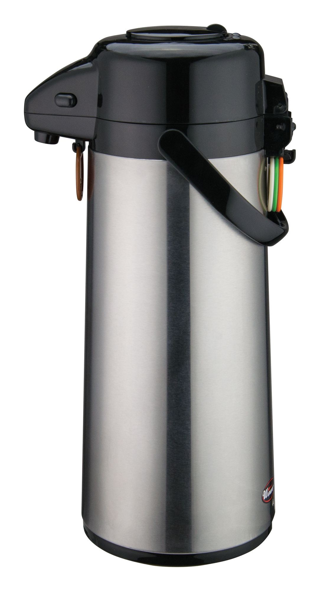 Winco AP-525 Vacuum Server with Glass-Lined Steel Body with Push Button 2.5 Liter
