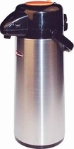 Winco AP-525DC Decaf Vacuum Server with Glass-Lined Steel Body with Push Button 2.5 Liter