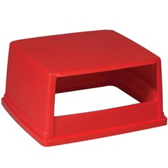 Glutton Hood-Top Receptacle Lid, 26 5/8w x 23d x 13h, Red