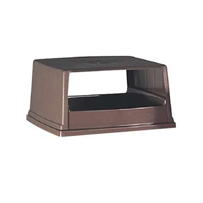 Glutton Hood-Top Receptacle Lid, w/Doors, 26 5/8w x 23d x 13h, Brown