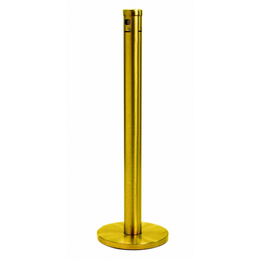 Aarco Products SC40F Gold Floor Standing Cigarette Receptacle
