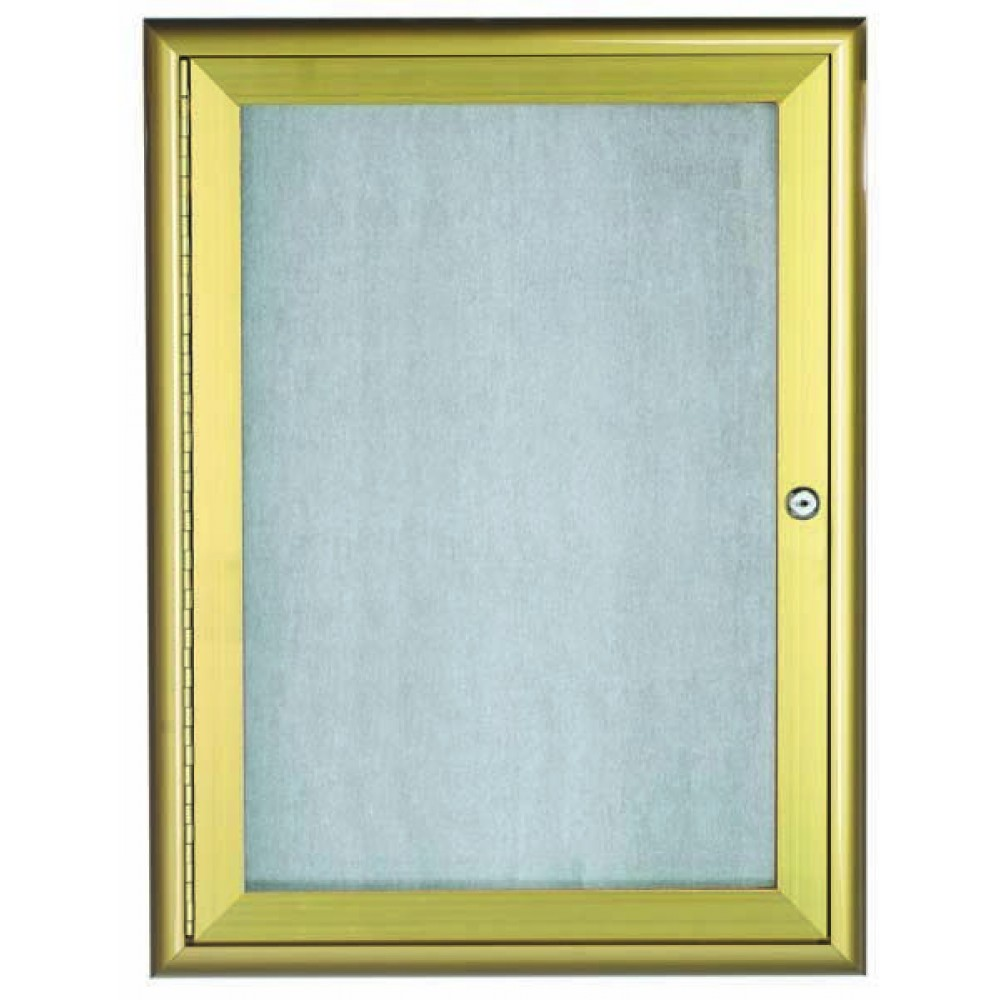 Gold Indoor / Outdoor Waterfall Series Enclosed Bulletin Board- 48