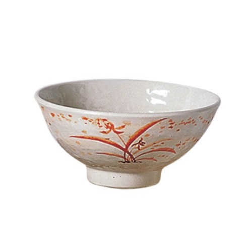 Thunder Group 5705 Gold Orchid Melamine Rice Bowl 11 oz.