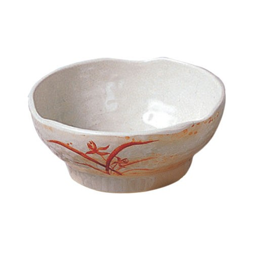 Thunder Group 3706 Gold Orchid Melamine Wave Rice Bowl 14 oz.