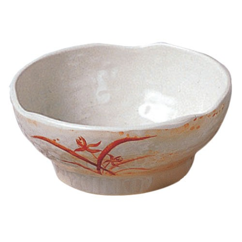 Thunder Group 3707 Gold Orchid Melamine Wave Soup Bowl 24 oz.
