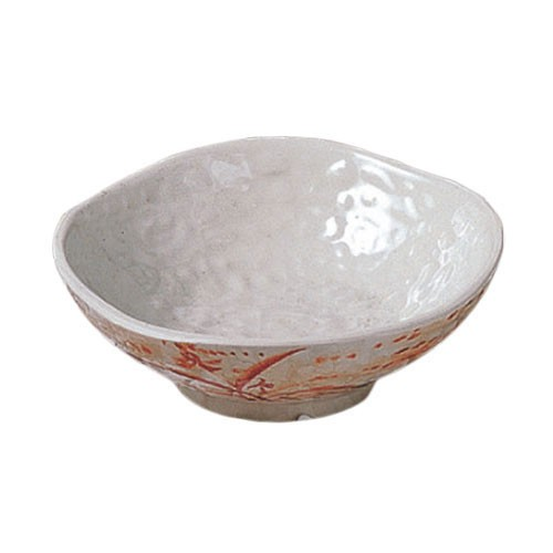 Thunder Group 3705 Gold Orchid Melamine Wave Rice Bowl 7 oz.