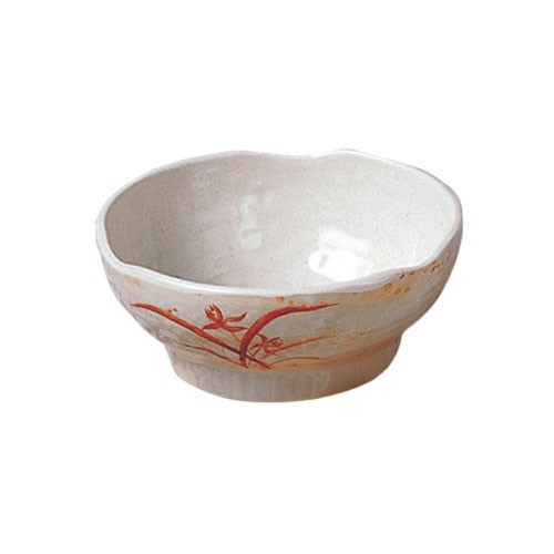 Thunder Group 3704 Gold Orchid Melamine Wave Rice Bowl 9 oz.