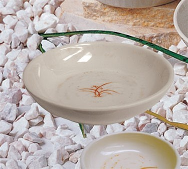 Thunder Group 3955GD Gold Orchid Melamine Bowl 9 oz.