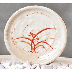 Thunder Group 1704 Gold Orchid Melamine Plate 4""