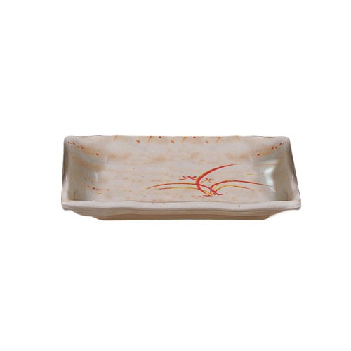 Thunder Group 2408 Gold Orchid Rectangular Melamine Wave Plate 12 oz.