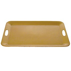 Gold Pearl Rectangular Tray With Built-In Handles - 19.5