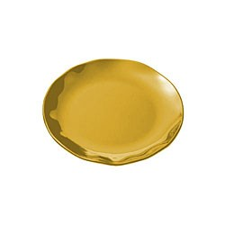 Gold Pearl Scalloped Round Dinner Plate - 10-1/2