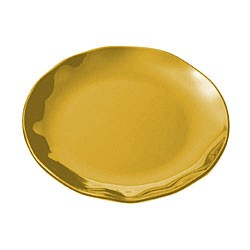 Gold Pearl Scalloped Round Platter - 18-1/2