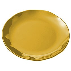 Thunder Group RF1020G Gold Pearl Round Platter, 20-1/2""