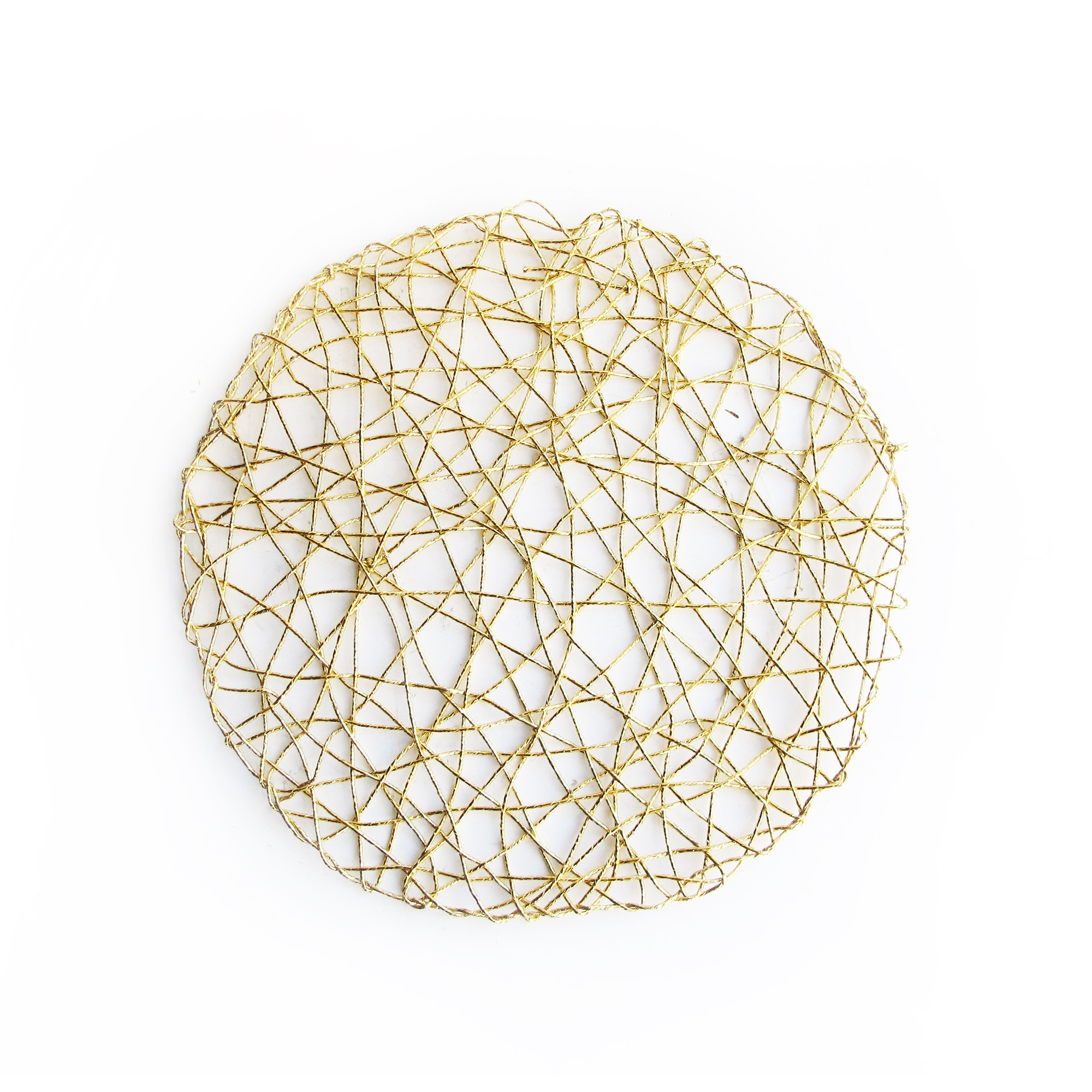 Jay Import 1332564 Round Gold Metal Placemat 14 5 Quot Lionsdeal