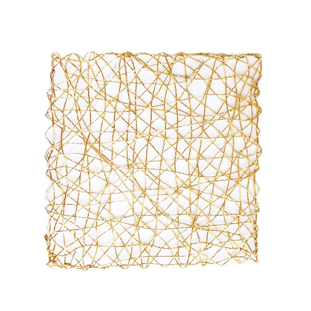 Gold Placemat Square 13.5