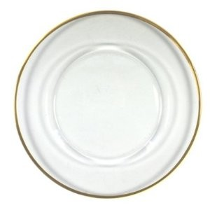 """Jay Import 1900002 Gold Rimmed 13"""" Charger Plate"""