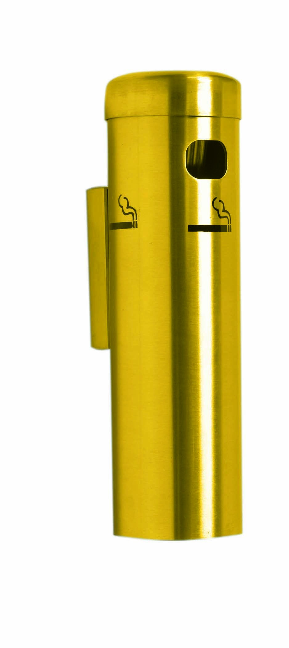 Gold Wall Mounted Cigarette Receptacles