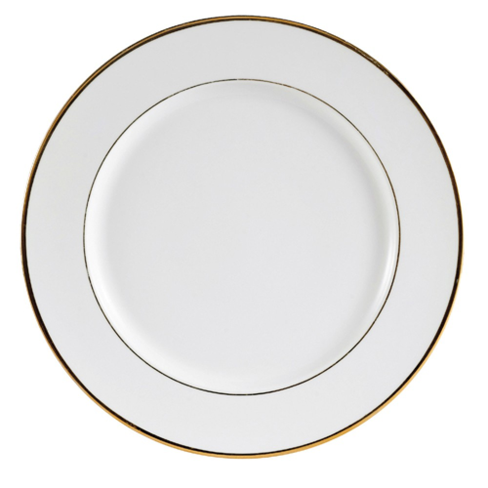 "CAC China GRY-16 Golden Royal 10 1/2"" Flat Plate"