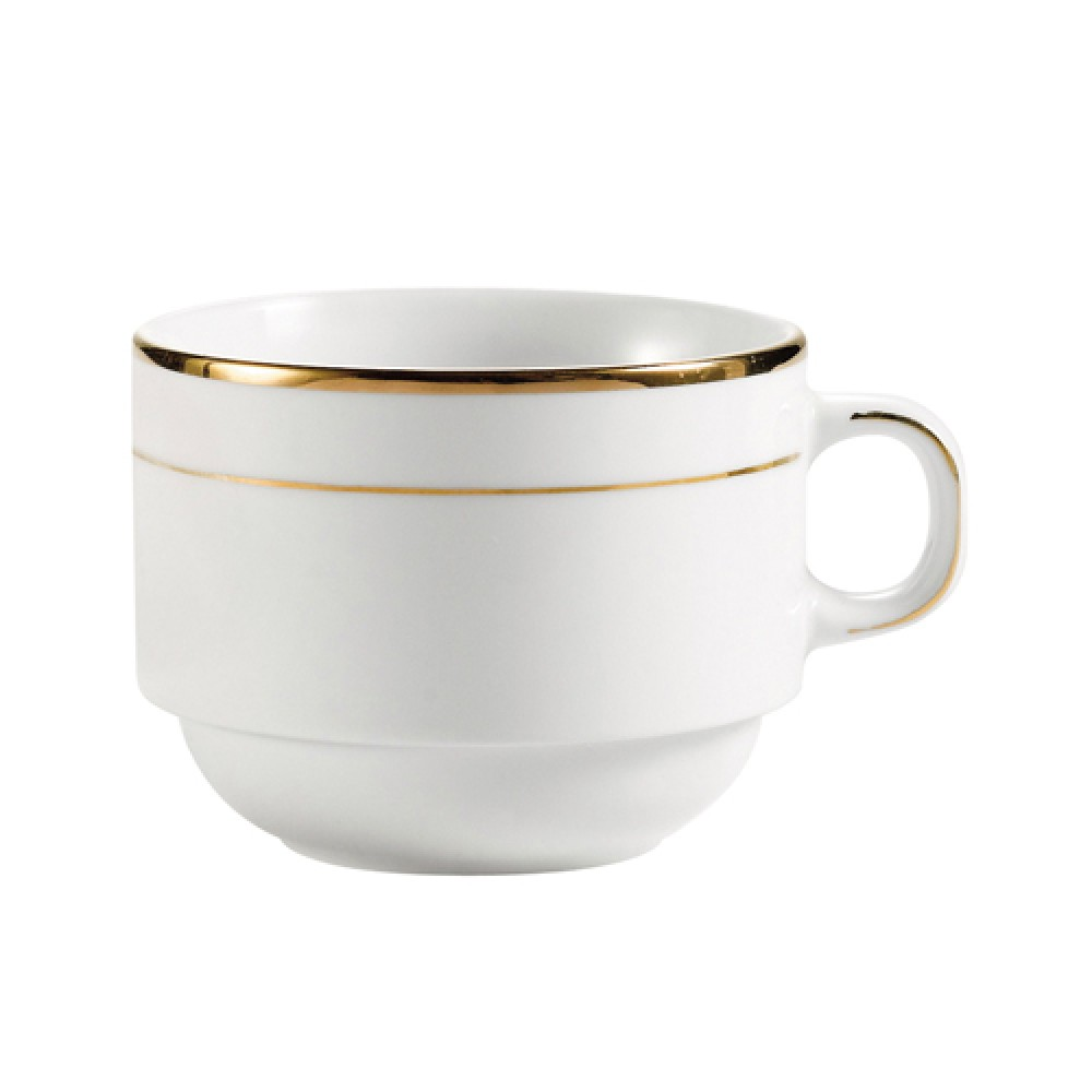 CAC China GRY-23 Golden Royal 8 oz. Stacking Cup