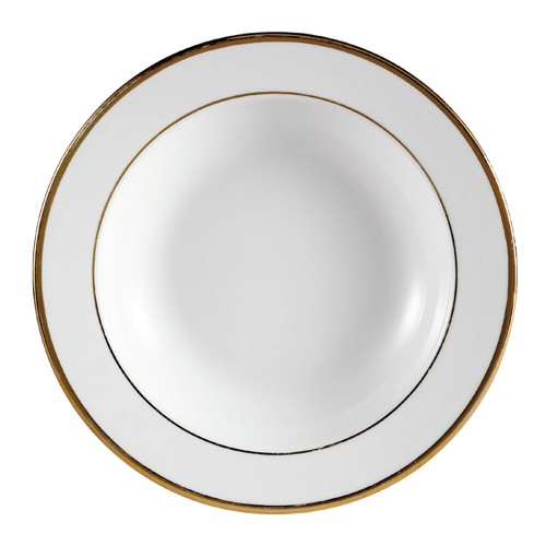"CAC China GRY-3 Golden Royal 9"" Soup Plate"