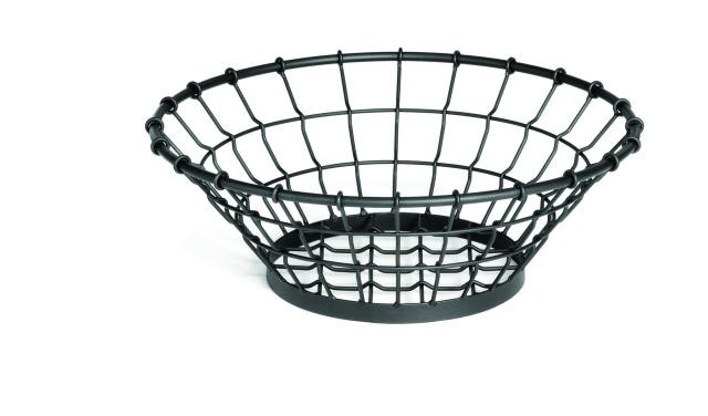 "TableCraft GM15 Grand Master Round Black Wire Display Basket 15"" x 5-1/4"""