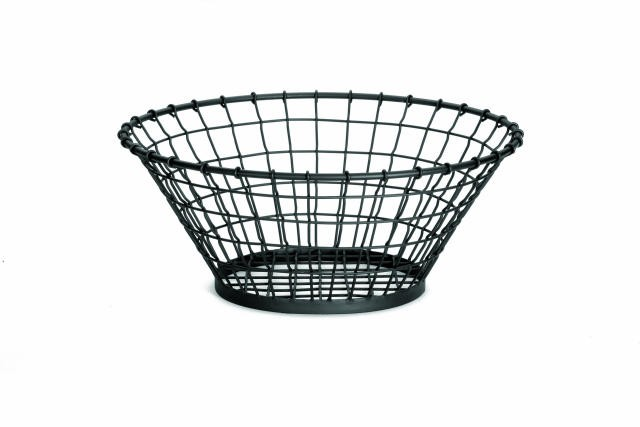 "TableCraft gm18 Grand Master Round Black Wire Display Basket 18"" x 7-1/2"""