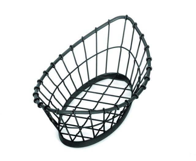 "TableCraft GM1809 Grand Master Oblong Black Wire Display Basket 18"" x 9"" x 5-1/2"""