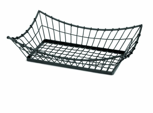 Grand Master Black Rectangle Metal Display Basket - 21