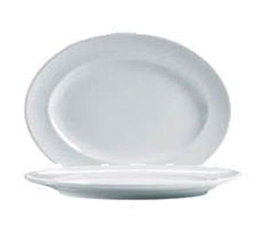 "Cardinal S1560 Arcoroc Rondo Oval Platter, 13-1/2"" x 10-3/8"" Dia."