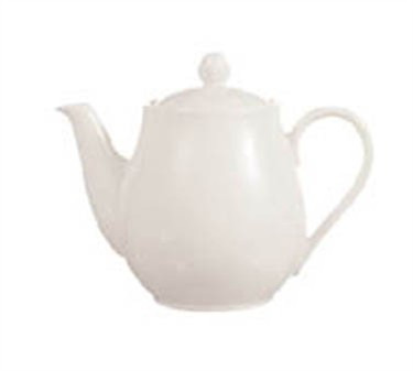 Cardinal S0120 Chef & Sommelier Embassy White 25-1/2 oz. Teapot with Cover