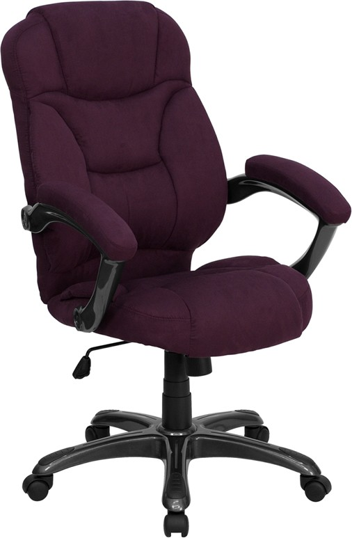 Flash Furniture GO-725-GRPE-GG Grape Microfiber High Back Office Chair