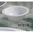 Thunder Group NS305W Nustone White Melamine Grapefruit Bowl 10 oz.