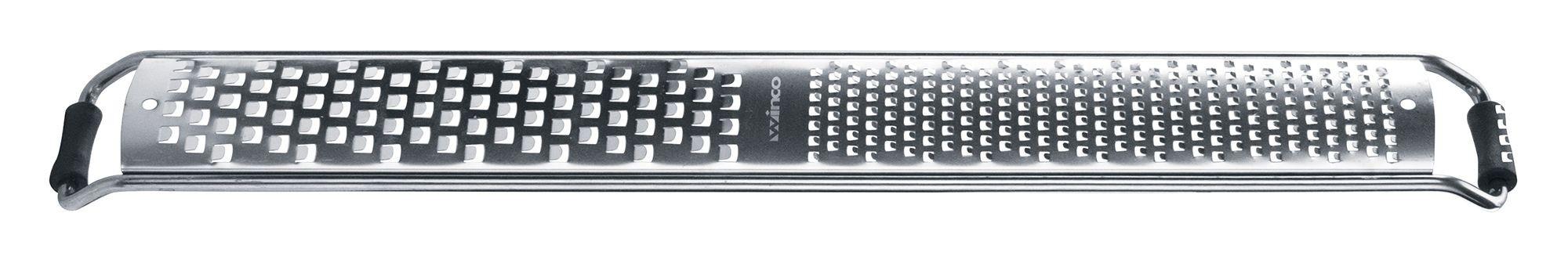 Winco GT-345 Half Zester/Half Fine Blade Grater with Anti-Slip Feet