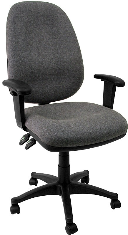 Flash Furniture BT-661-GR-GG Gray Ergonomic Computer Chair with Height Adjustable Arms