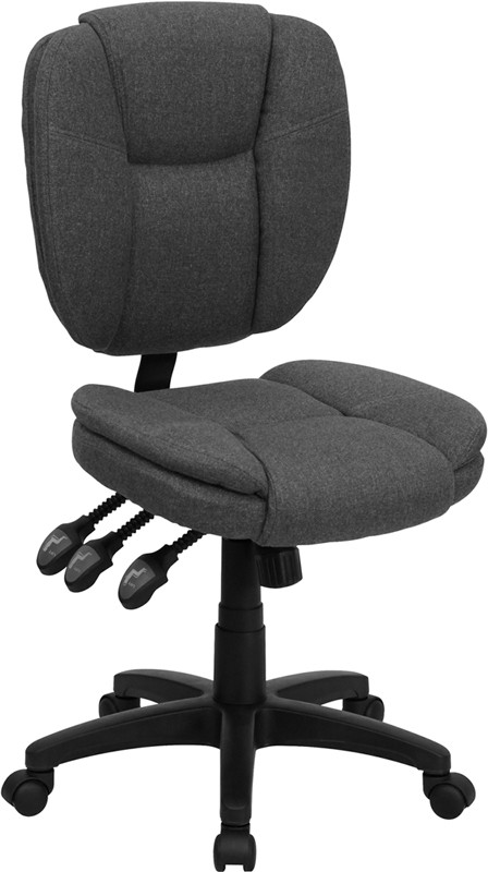 Flash Furniture GO-930F-GY-GG Gray Fabric Multi Function Task Chair