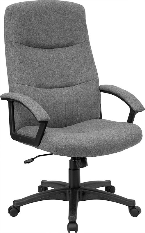 Flash Furniture BT-134A-GY-GG Gray Fabric Upholstered High Back Executive Swivel Office Chair